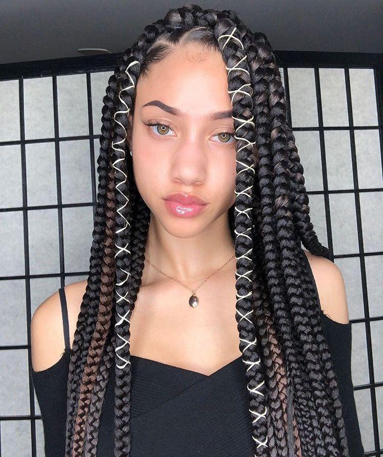 Instagram Kaylabylon Braided Hairstyles Box Braids Styling Braids For Black Hair