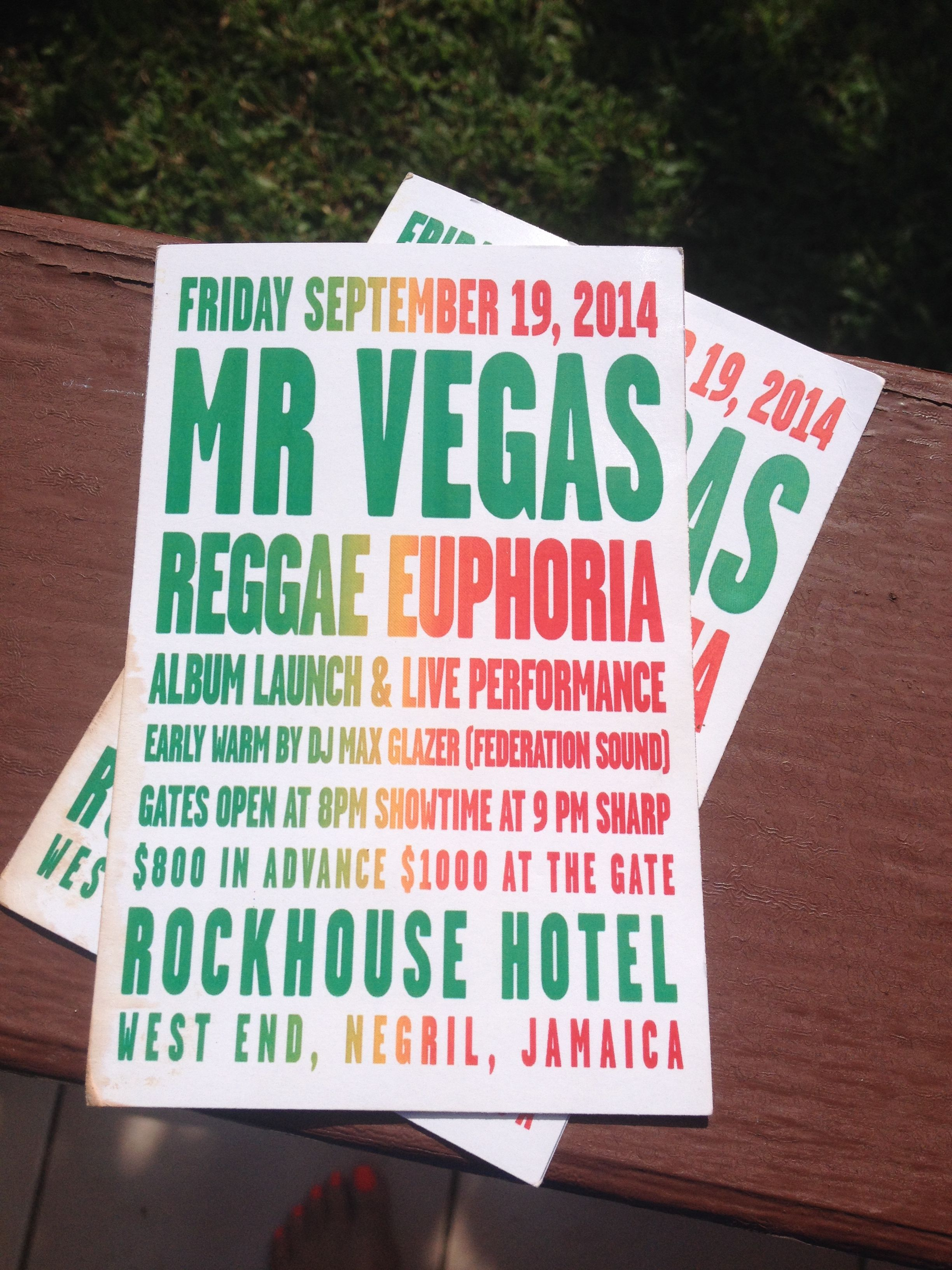 Rockhouse Hotel Negril Jamaica.....me and my baby the best concert venue ever....lovin Mr. Vegas