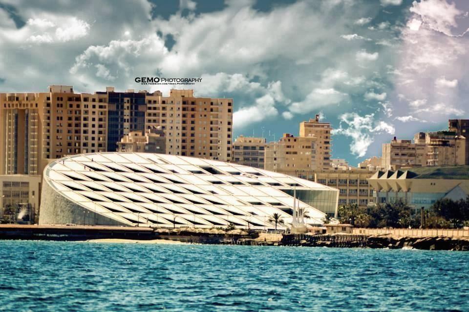 :::: ♤ ✿⊱╮☼ ☾ PINTEREST.COM christiancross ☀❤•♥•*[†] ::::Alexandria library, Egypt.