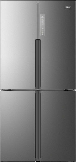 Haier Hrq16n3bgs 33 Inch 4 Door Counter Depth French Door Refrigerator With Quick Cool Quick Chill Hcs Filter Led Lighting Touch Temperature Controls Energ Glass Shelves In Bathroom Counter Depth French Door