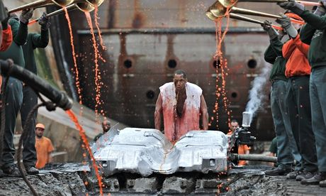 Matthew Barney - Words and music, mercury and sulphur … a scene from River of Fundament.