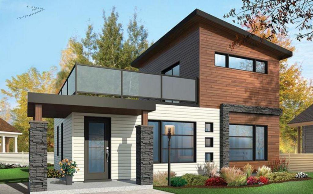 Fachadas para casas de 6 m de frente planos de planta for Frentes de casas modernas planta baja