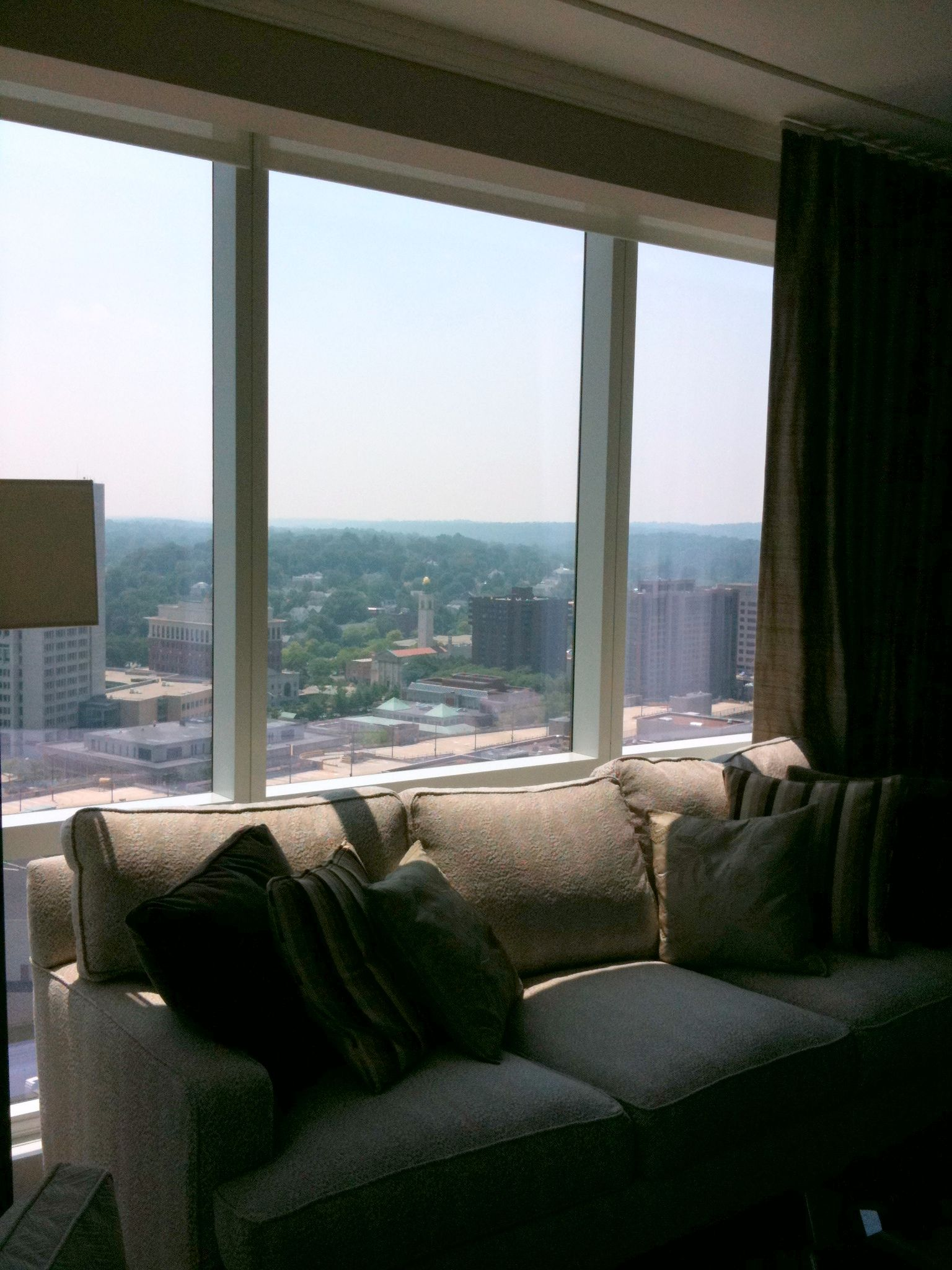 View from living area family condo at ny ritz carlton for decor
