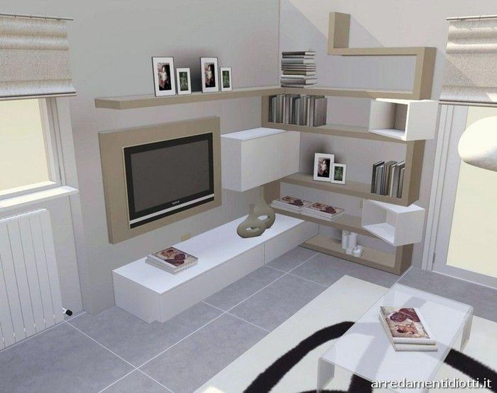 Salotto non contano se in ogni angolo puoi avere pareti soggiorno moderne. 45 Amazing Wall Storage Items For Your Contemporary Living Room Living Room Door Living Room Wall Units Contemporary Living Room