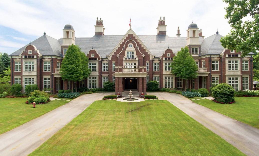 this stately lakefront brick mega mansion dubbed chelster hall rh pinterest com