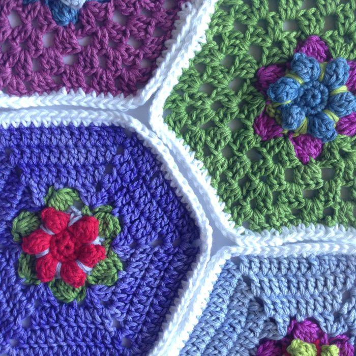 Free pattern crochet hexagon with flower crochet free pattern free pattern crochet hexagon with flower dt1010fo