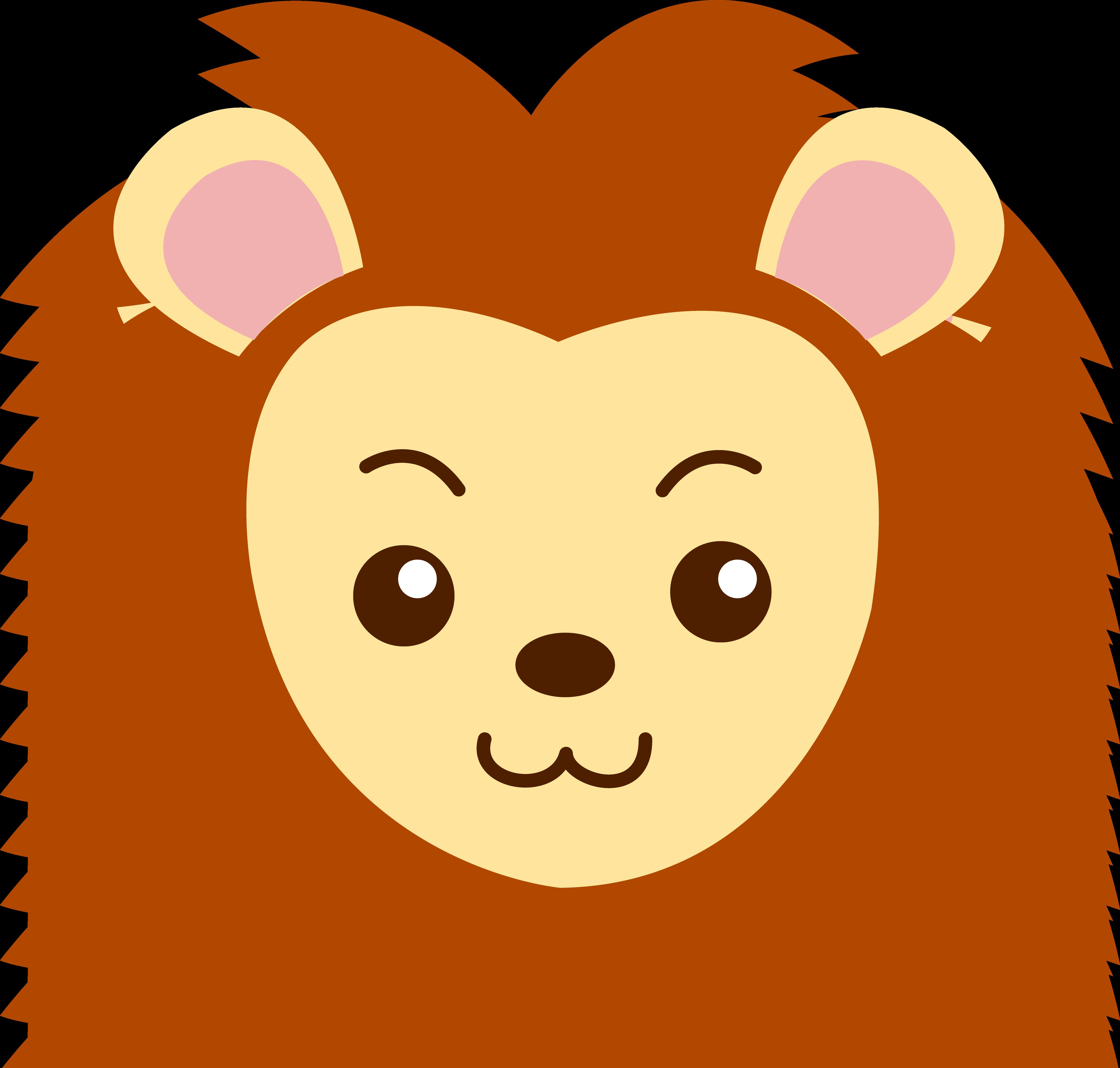Face Of A Cute Lion Free Clip Art Free Clip Art Lion Coloring Pages Clip Art Library