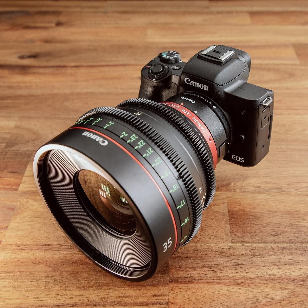Canon M50 With Cine 35mm F 1 4 Lens Canon Canonphotography Canoneosr Eosr Fullframe Canoncinema Streetsty Photo Lens Canon Camera Pictures Of Cameras