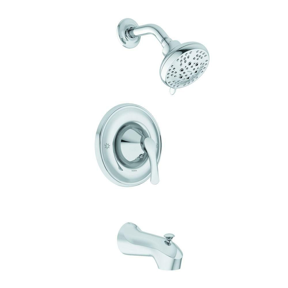 Moen Darcy 1 Handle Tub And Shower Faucet In Chrome 82550 The