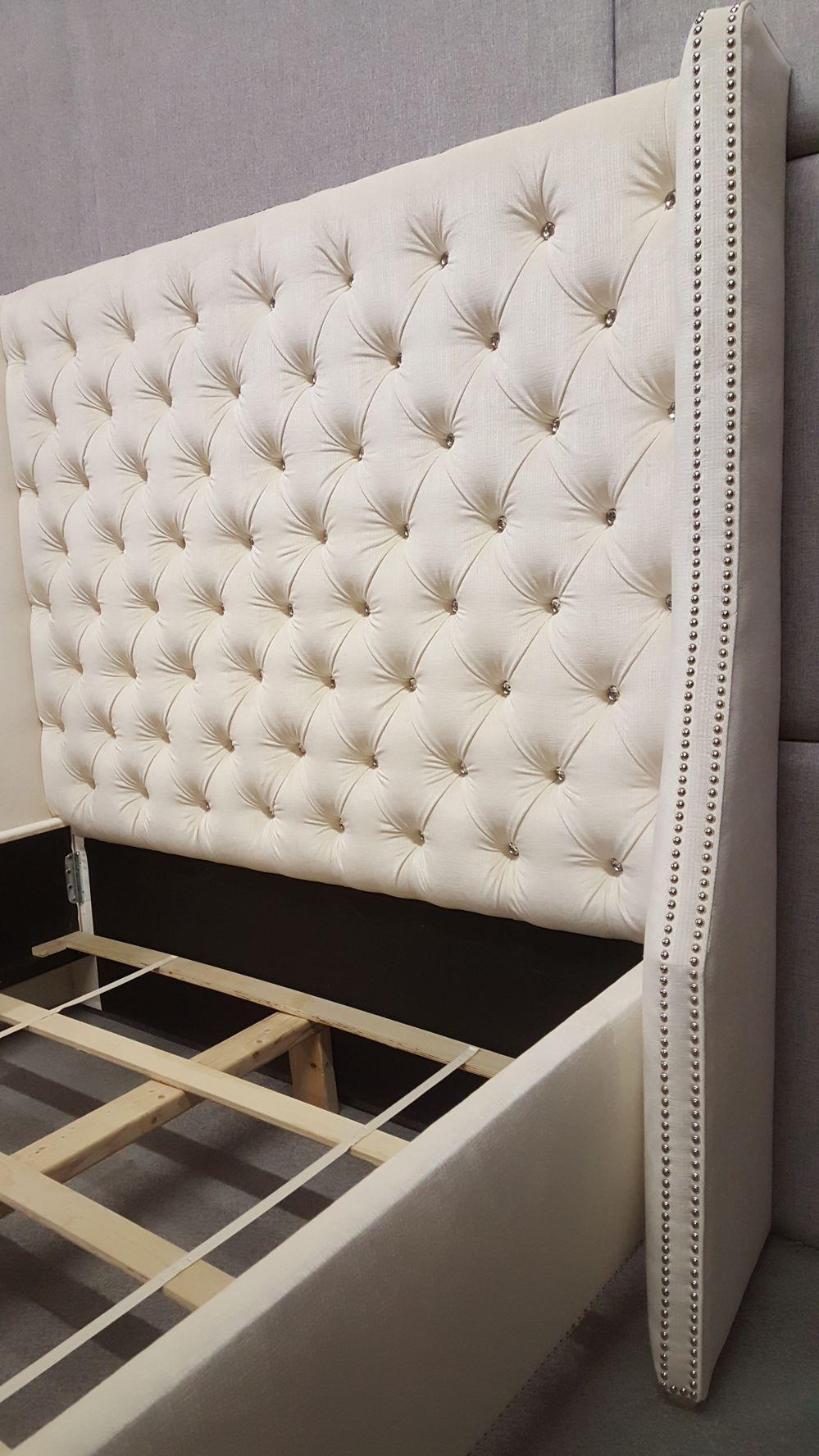 Cama tapizada. | Dormitorios | Pinterest | Upholstery, Bed furniture ...
