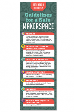 Makerspace Safety Poster Makerspace Safety Posters Makerspace Rules