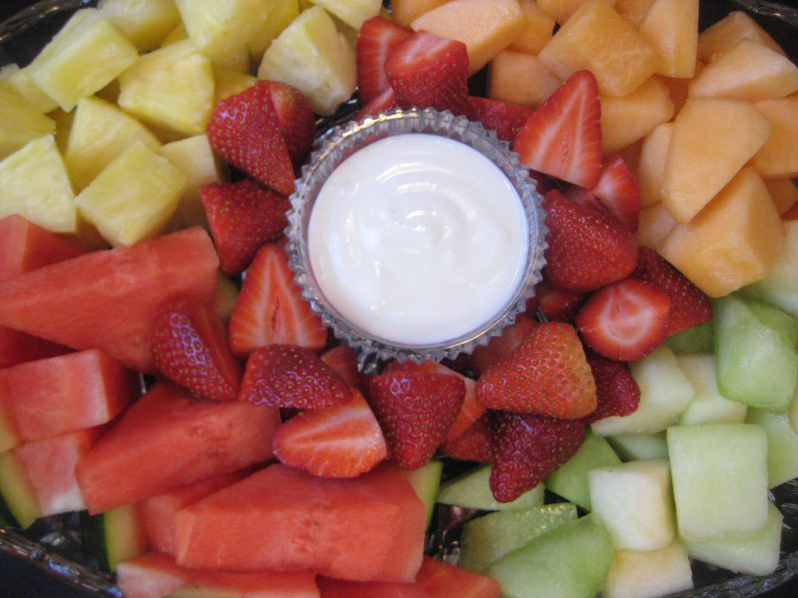 Easy fruit dip and not forgetting to play with your kids