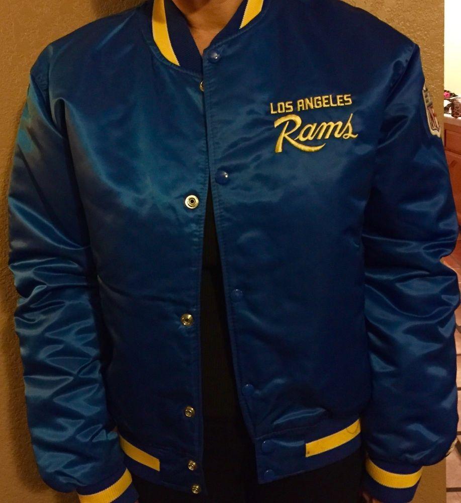 Old School 80 S Vintage Los Angeles Rams Starter Satin Jacket Med Satin Jackets Los Angeles Rams Vintage Los Angeles