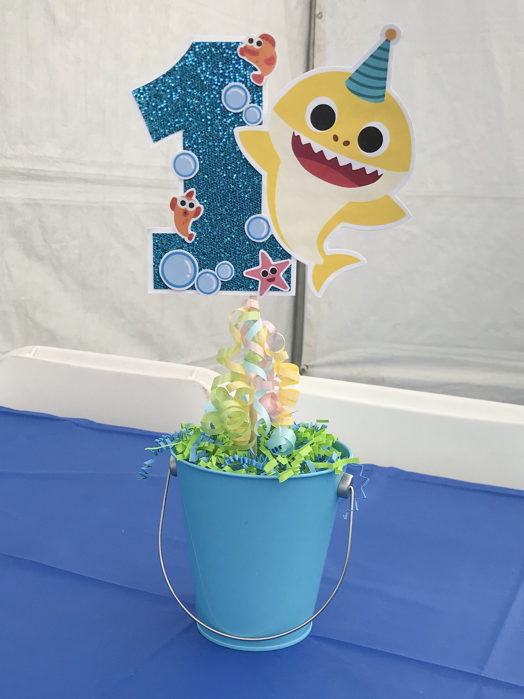Baby Shark Centerpiece Diy Baby First Birthday Themes Shark Birthday Party Invitation Baby Boy 1st Birthday Party