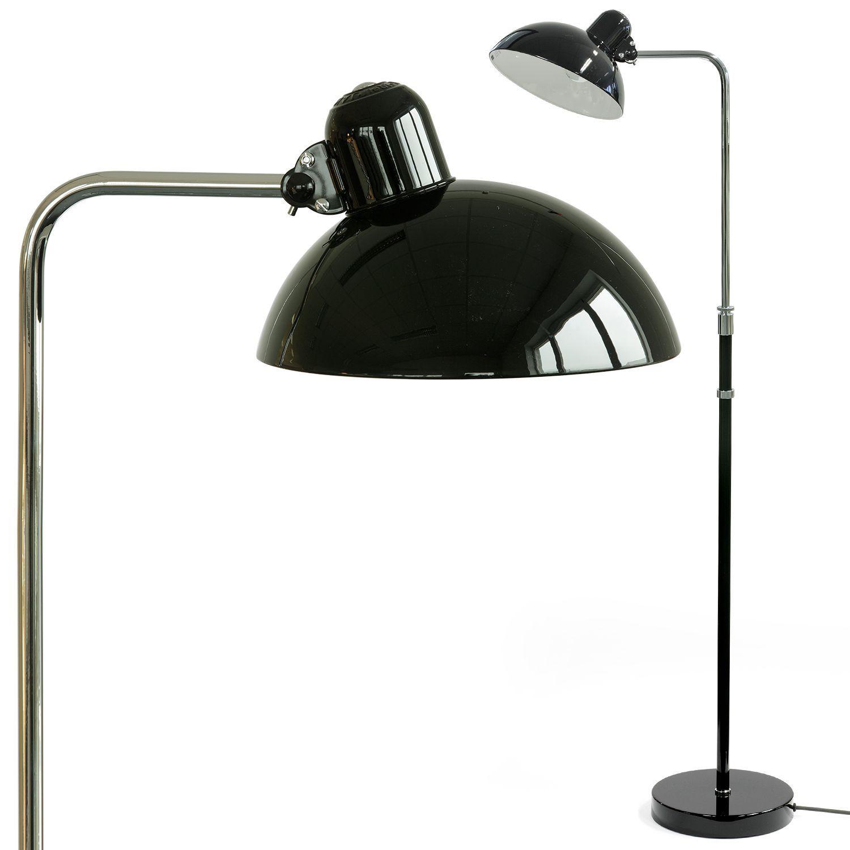 Originale Bauhaus Stehlampe 6580 F Von Christian Dell In Schwarz