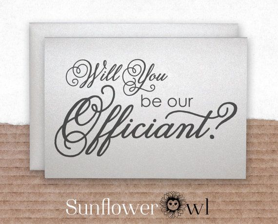 Will You Be Our Officiant Gift Wedding