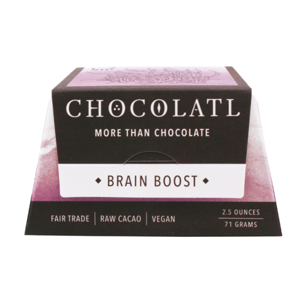 Brain Boost organic, non GMO, gluten free raw cacao chocolate - taste you can't believe and it's good for you, too!  You have to try this!#chocolate #organic #nonGMO #rawcacao #superfood #coconutsugar #lowsugar #artisan #cocoa #glutenfree #veganchocolate #vegan #plantbased