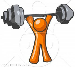 clipart illustration of orange man lifting weights exercising rh pinterest com clipart workout workout clip art exercises