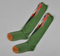 """CHIMAYO"" SOCKS, GREEN : - Hickoree's"