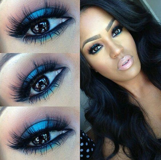 Maquillaje Vestido Turqui Largos Ybf7gy6 Para Vestidos Azul