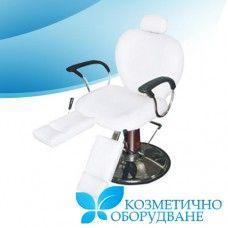 Професионален стол за педикюр и козметика модел 2300 Професионален козметичен стол за педикюр, който се отличава с функционалност и комфорт. Моделът е оборудван с много екстри, които ще допринесат за максималното удобство на клиента, както и за улеснение работата на професионалиста.  Визията на стола е красива и елегантна, подходяща за всеки салон.