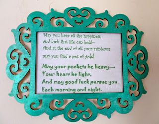 Make it easy crafts: St Patrick's Day Blessing Heart Plaque