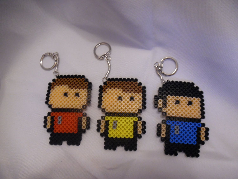 Star Trek Perler Bead Keychains by WeesBoutique | perlers | Pinterest