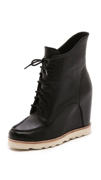 bb324e25f604 Cooper Lace Up Wedge Booties