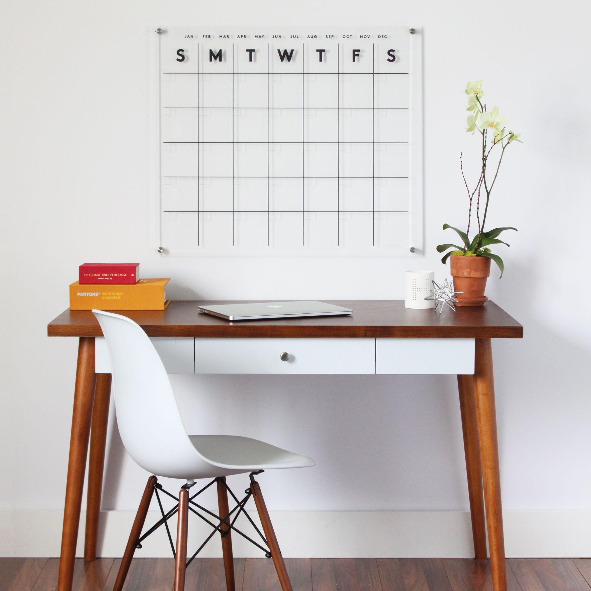 Clear Acrylic Dry Erase Calendars. Crisp, Clean, Sleek And