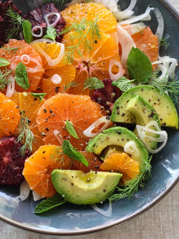 Citrus Fennel And Avocado Salad Recettes De Cuisine Idee Recette Salade Salade D Avocat
