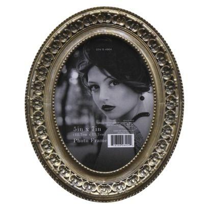 Threshold™ Antique Oval Frame - Gold 5x7 | Wedding Registry Board ...