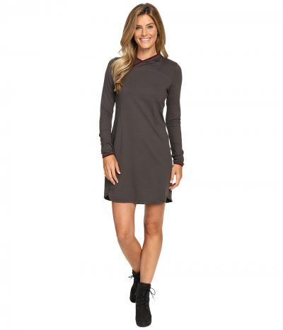 The North Face - Empower Hooded Dress (Graphite Grey) Women's Dress