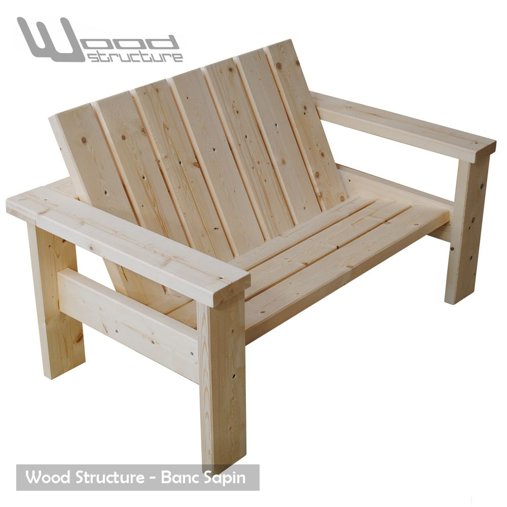 banc sapin du nord banc de jardin wood structure mortaise vis et assemblage. Black Bedroom Furniture Sets. Home Design Ideas