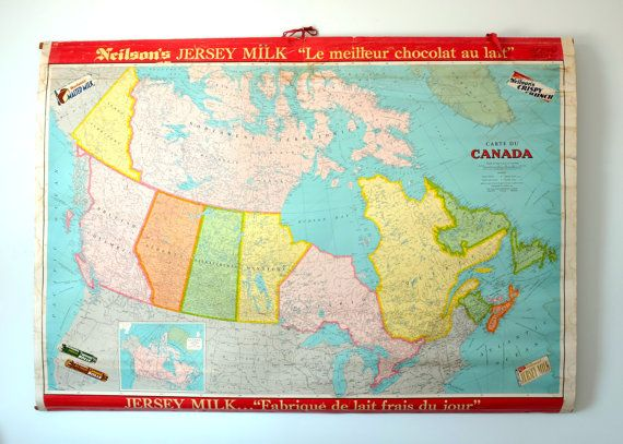 School map poster canada map by neilsons jersey milk chocolate school map poster canada map by neilsons jersey by decadisme gumiabroncs Choice Image