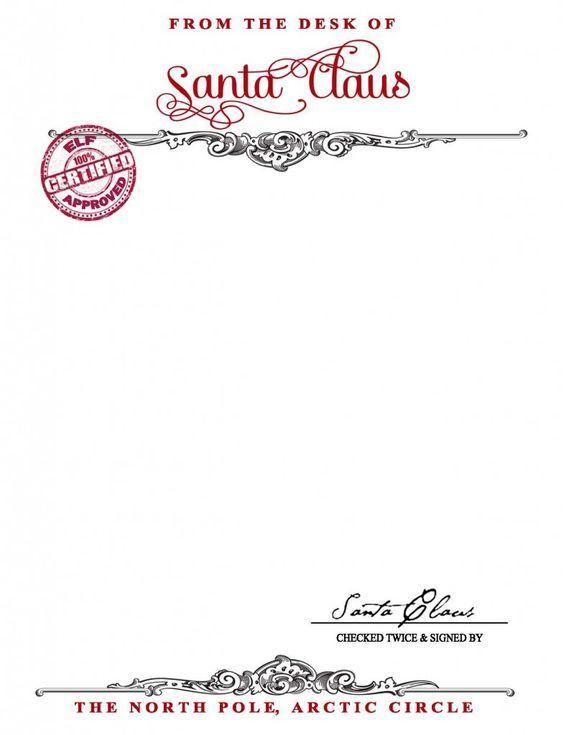 free printables santa claus stationary - Free Printable Christmas Stationary