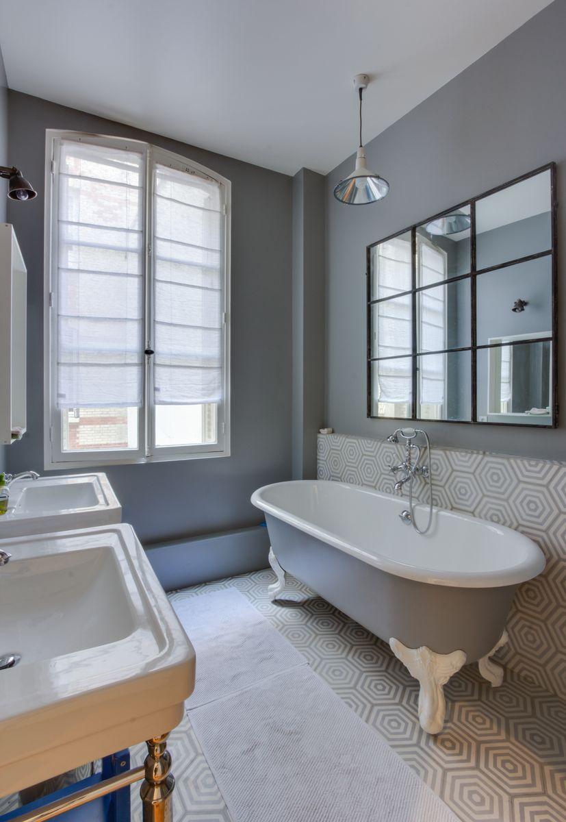 rue de la tour gcg architectes salle de bains salle. Black Bedroom Furniture Sets. Home Design Ideas
