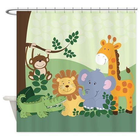 Jungle Safari Animals Shower Curtain By Jess Com Imagens