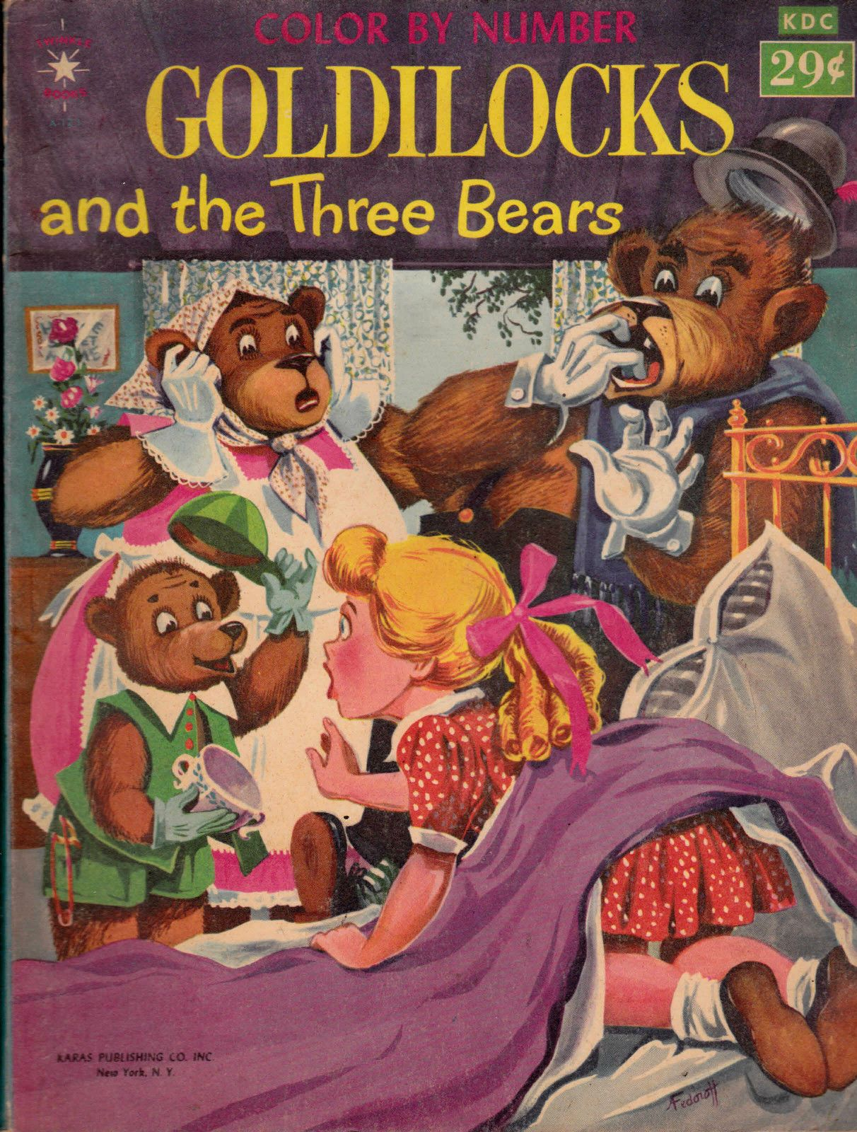Details About Goldilocks Amp The Three Bears Color By Number