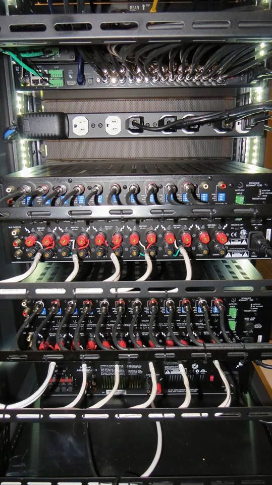 Impressive home theater/home automation equipment rack! More ...