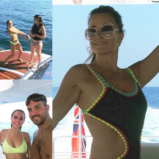 Kyle Richards And Family Vacation In Italy Photos Reality Tea Kyle Richards Kyle Family Vacation