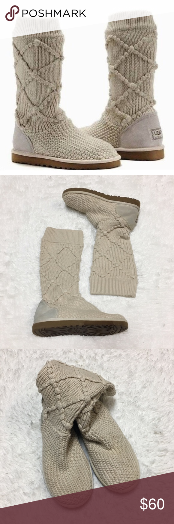 4432e9759cf UGG Cream Sweater Knit Boots | My Posh Closet | Pinterest | Fashion ...