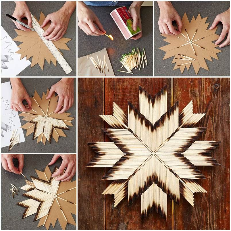DIY Unique Crafts of Matches #uniquecrafts