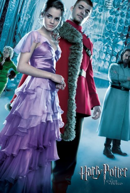 Hermione Granger and Victor Krum at the Yule Ball from the ...