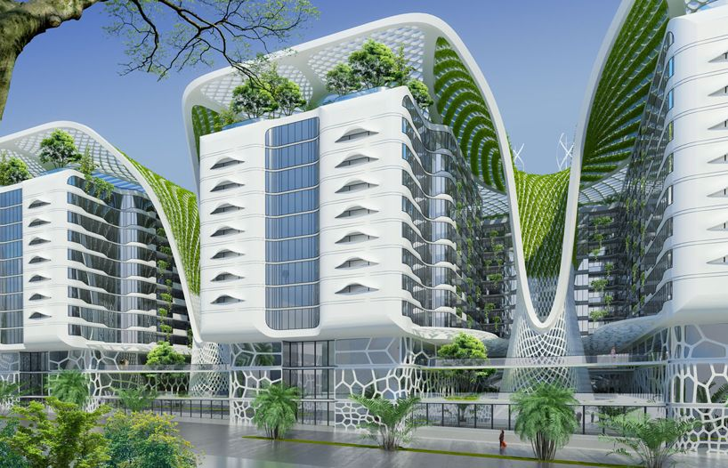 vincent callebaut envisions green living at cairo 39 s gate residences architecture pinterest. Black Bedroom Furniture Sets. Home Design Ideas