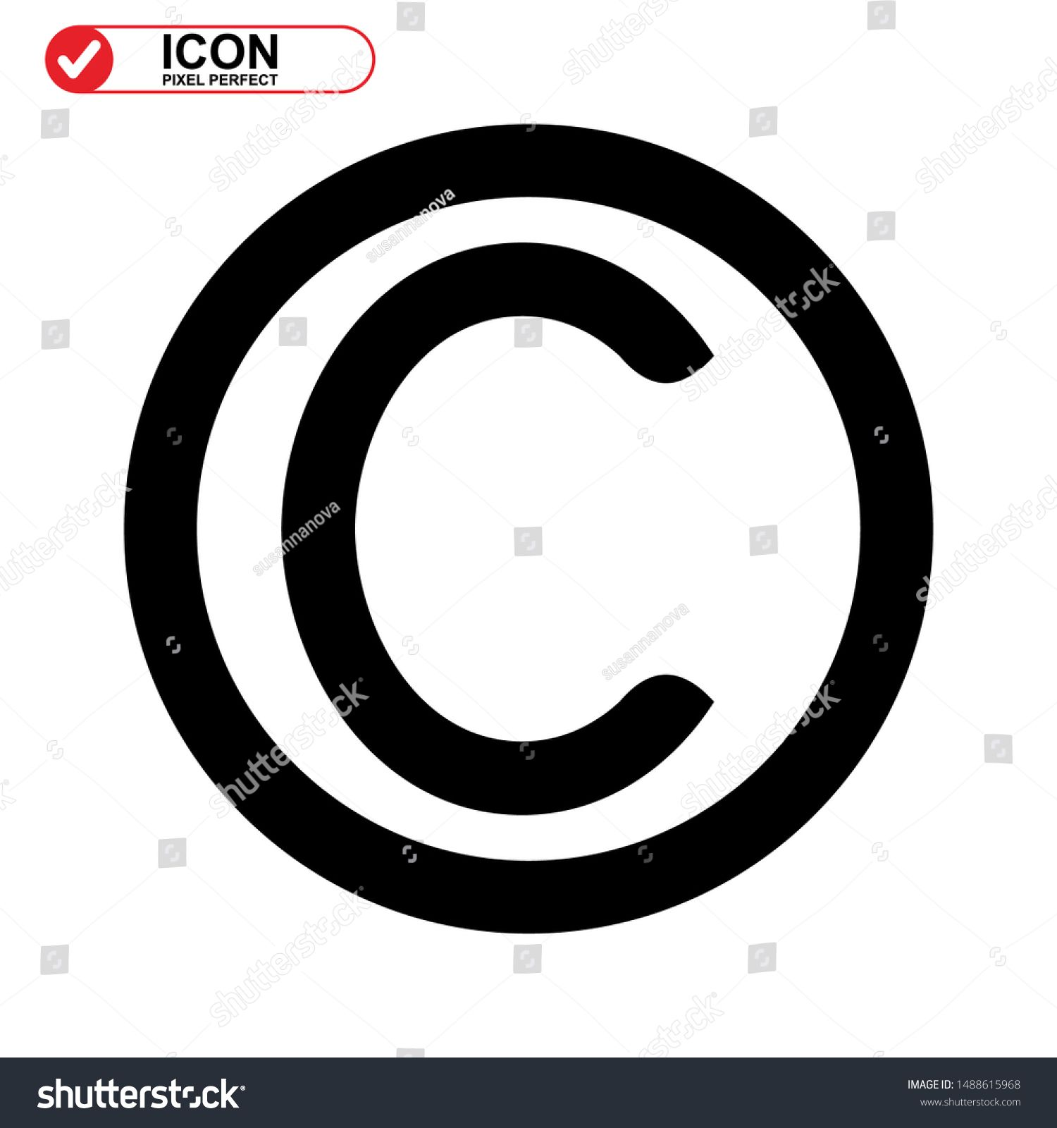 copyright icon isolated sign symbol vector illustration