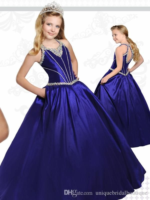 1569f8270 Royal Blue Teens Pageant Dresses 2017 Ritzee with Tear Drop Back and ...