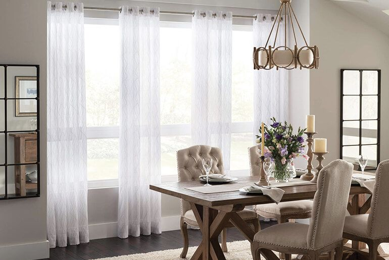 How To Choose Curtains And Drapes For Your Home Home Decor Dining Room Windows Dining Room Curtains