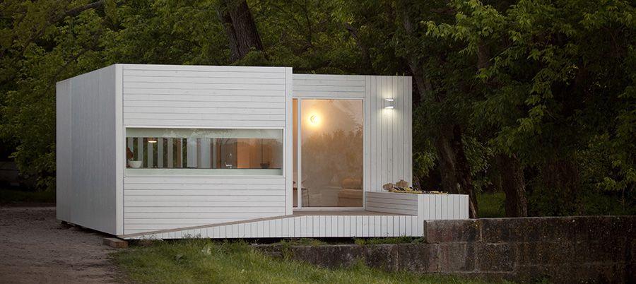Jular Casas Modulares Treehouse Riga Pequenas e elegantes
