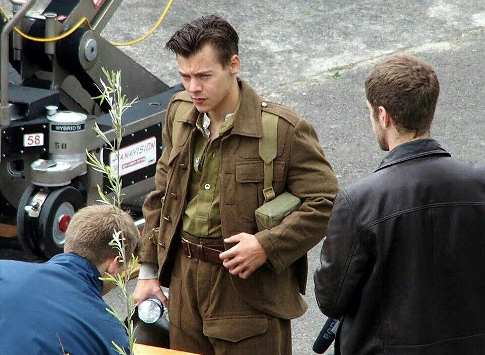 Harry on the movie set for Dunkirk!
