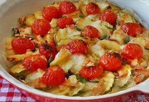 Gratin Léger aux Pommes de Terre / Courgettes et Tomates Cerises WW